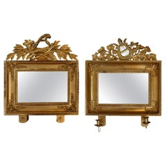 19th Century Pair of Swedish Gilded Mirrors
