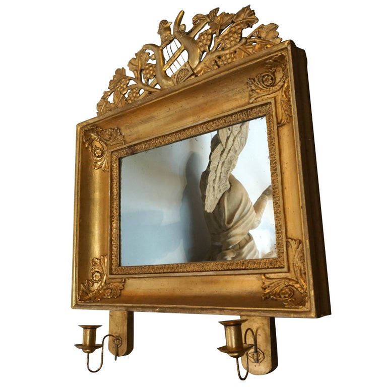 19th Century Pair Of Swedish Gilded Mirrors From Scandinavia For