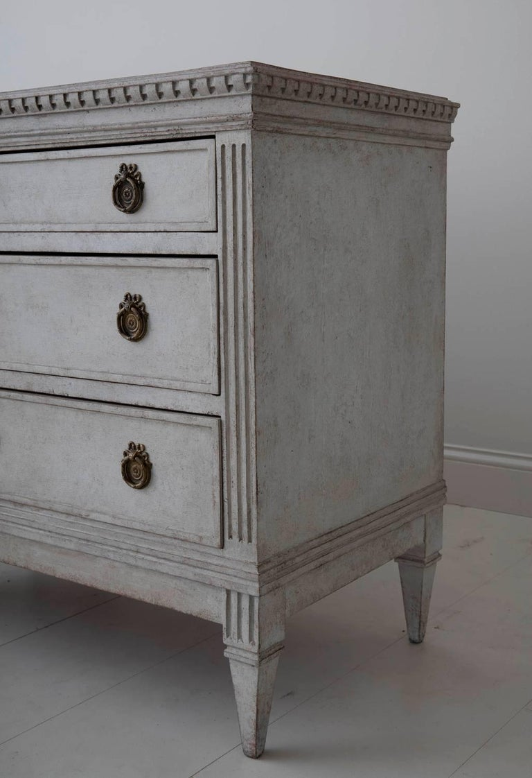 19th Century Pair of Swedish Gustavian Bedside Commodes with Marbleized Tops In Excellent Condition For Sale In Wichita, KS