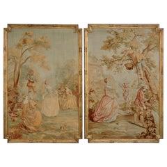 19th Century Pair of Tapestries in the 18th Century Taste, circa 1880