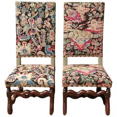 19th Century Pair of Tapestry Chairs in the Jacobean Manner