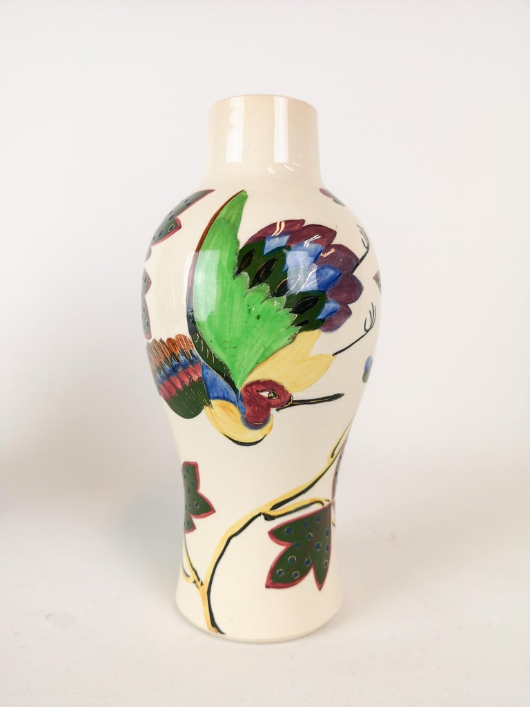 Late 19th Century 19th Century Pair of Vases Art Nouveau Gustavsberg, Sweden For Sale