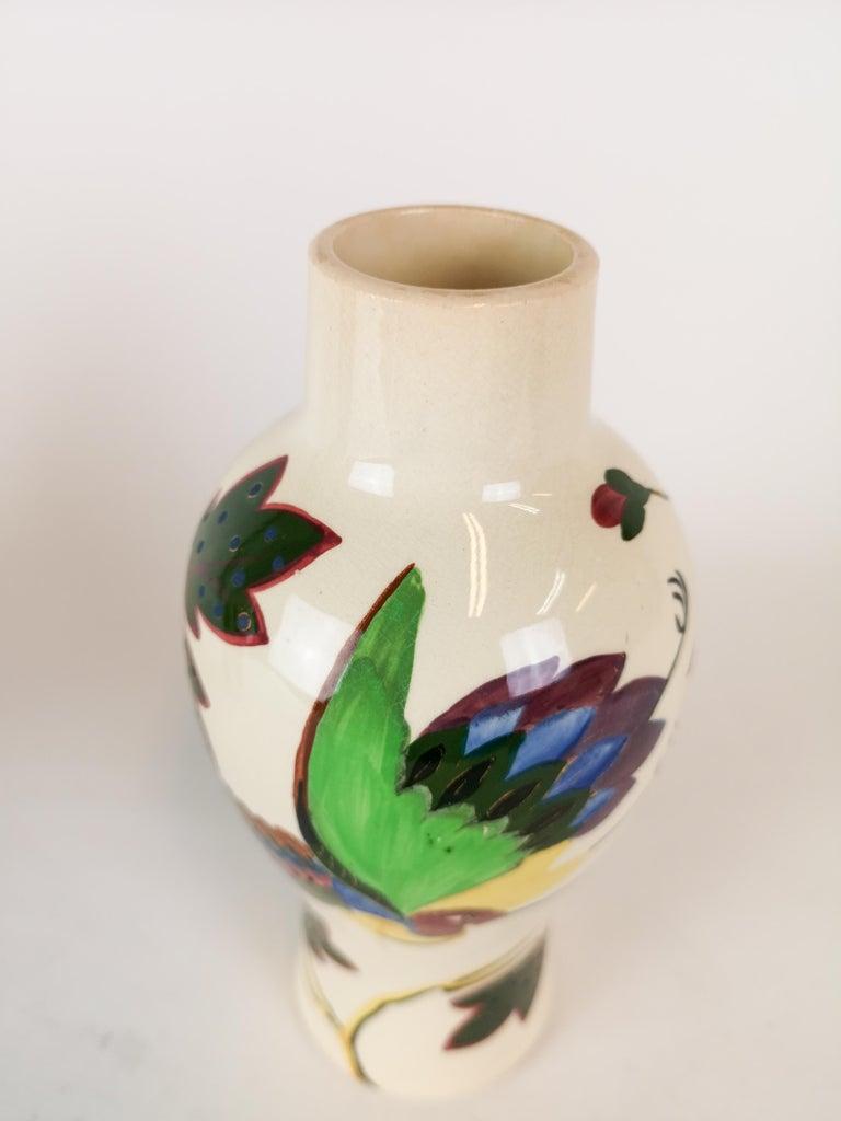 Ceramic 19th Century Pair of Vases Art Nouveau Gustavsberg, Sweden For Sale