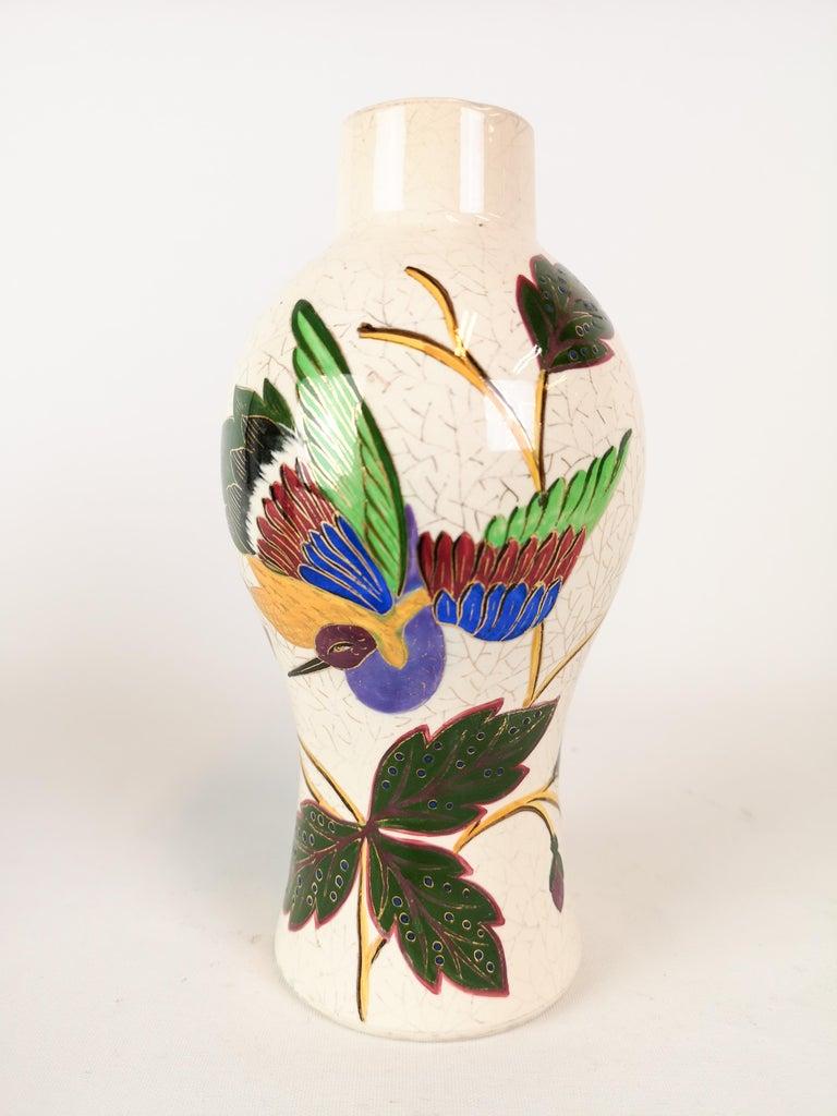 19th Century Pair of Vases Art Nouveau Gustavsberg, Sweden For Sale 1