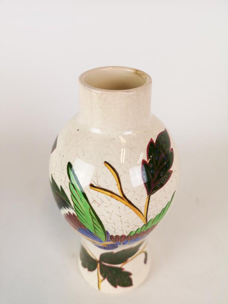 19th Century Pair of Vases Art Nouveau Gustavsberg, Sweden For Sale 2