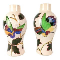 19th Century Pair of Vases Art Nouveau Gustavsberg, Sweden