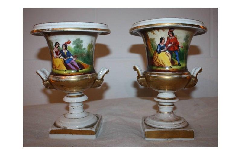 19th century pair of vases