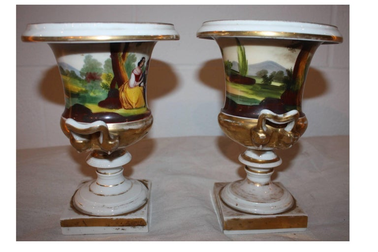 French 19th Century Pair of Vases