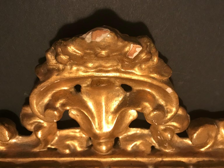 Italian 19th Century Pair of Venetian Hand-Carved, Gilded Mirrors, Italy For Sale