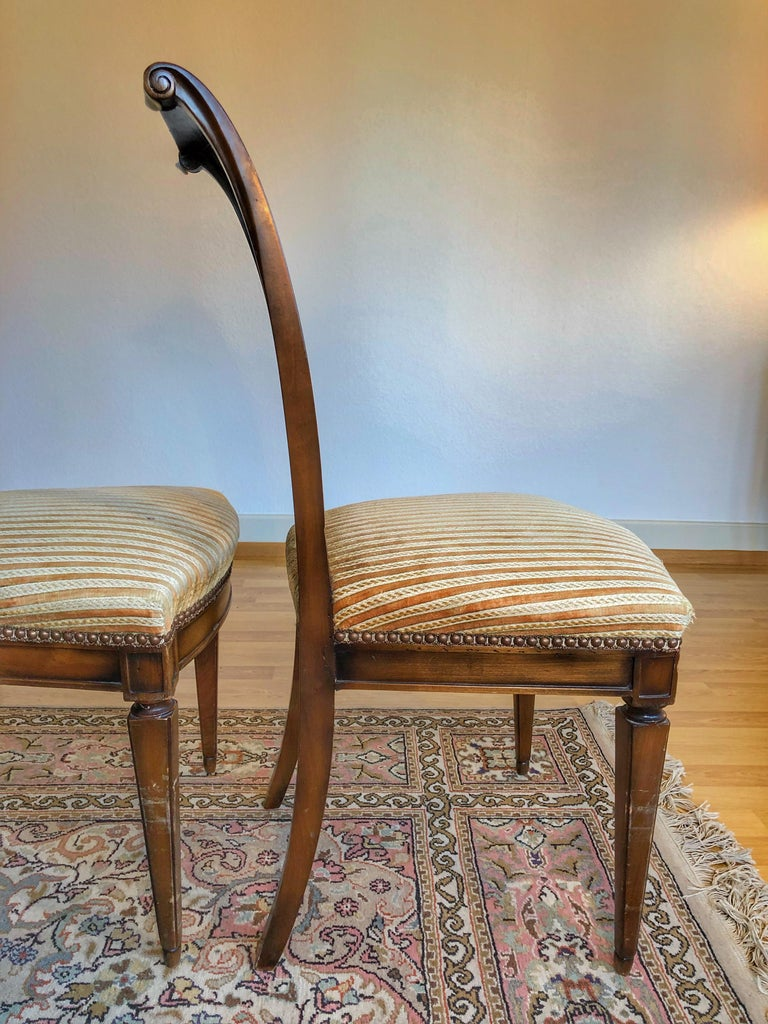 SALE Pair of Wooden Neoclassical Empire Side Chairs Biedermeier ON SALE  For Sale 2