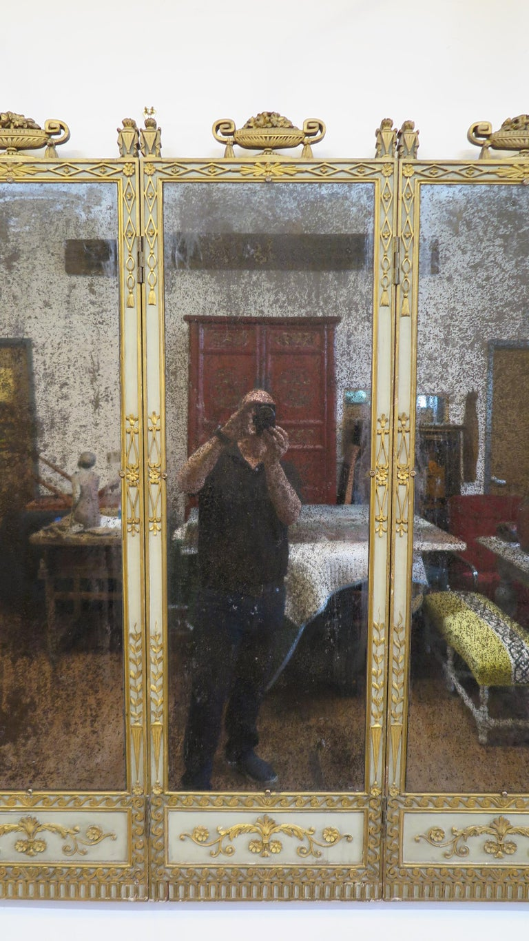 19th Century Panel Mirror For Sale 5