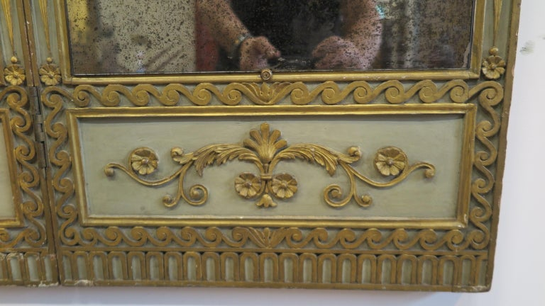 Wood 19th Century Panel Mirror For Sale