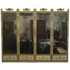 19th Century Panel Mirror