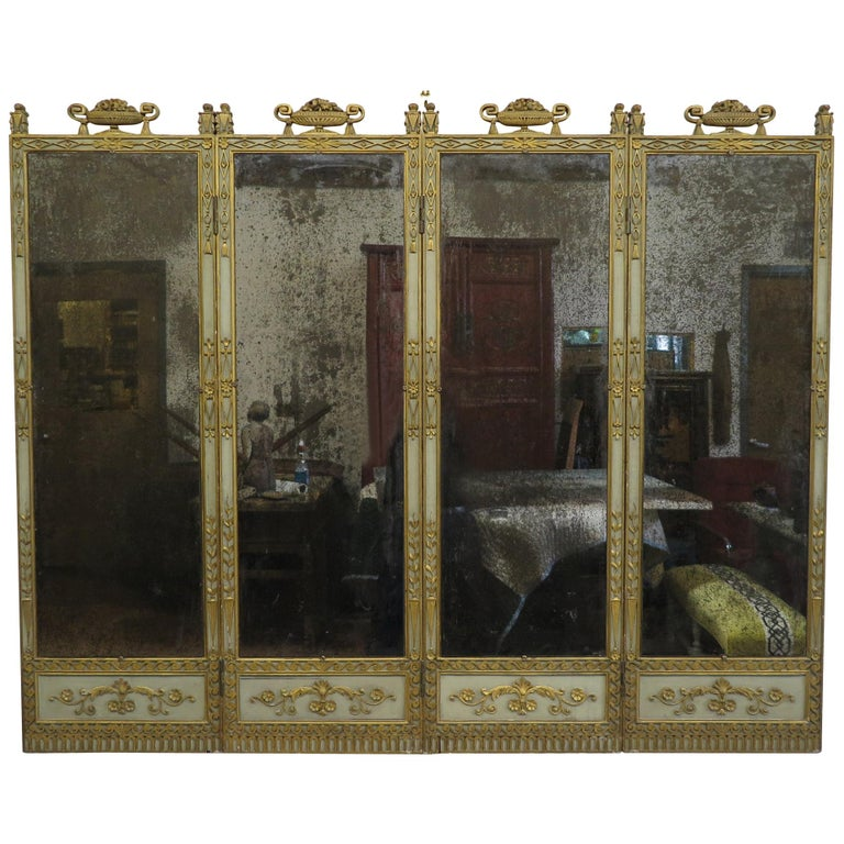 19th Century Panel Mirror For Sale