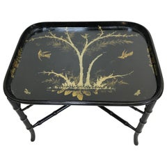 19th Century Paper Mâché Cocktail Tray Table