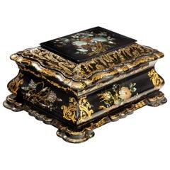 19th Century Papier Mâché Box
