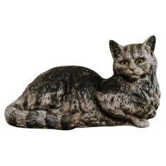 19th Century Papier Mâché Cat