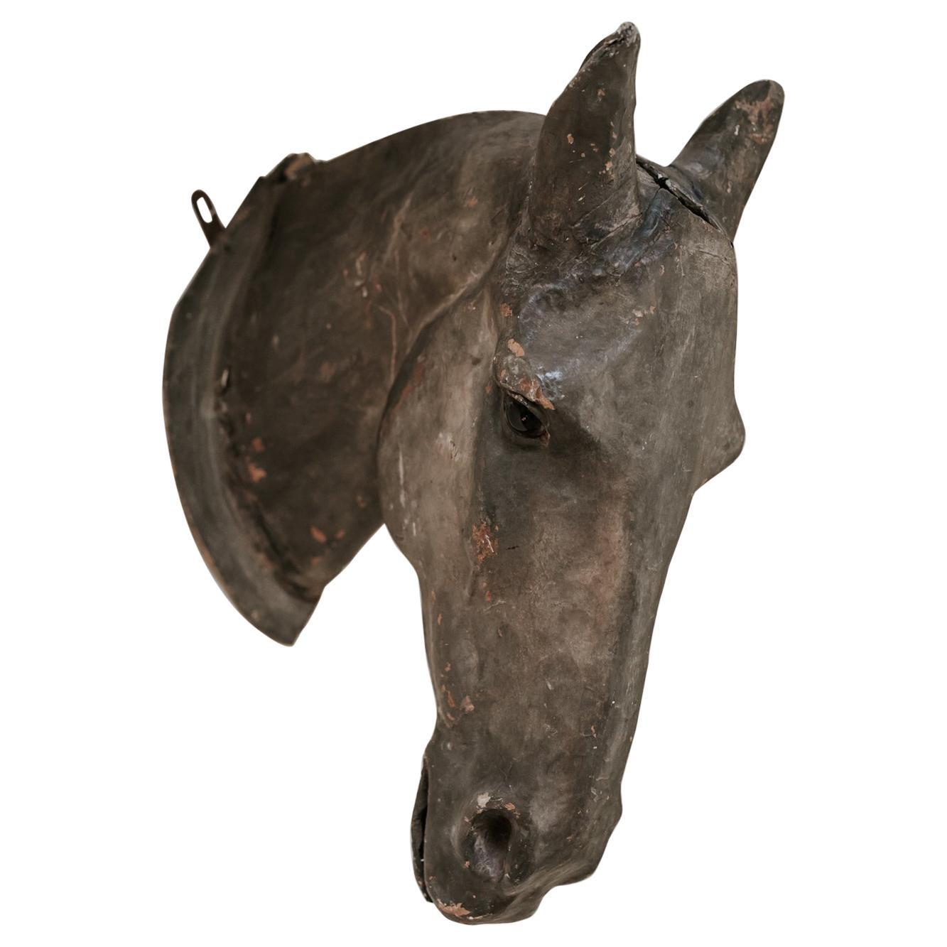 19th Century Papier Mâché Horse Head