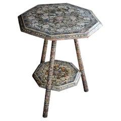 19th Century Papier Mache Kashmir Table