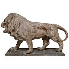 19th Century Papier Mâché Lion