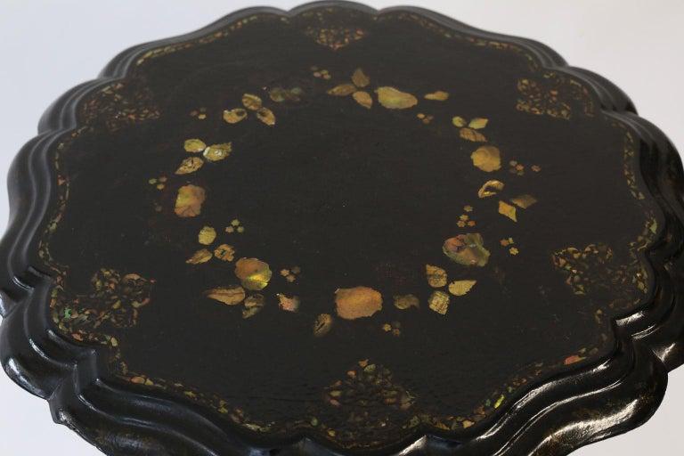 19th Century Ebonized Papier Mâché Table 6