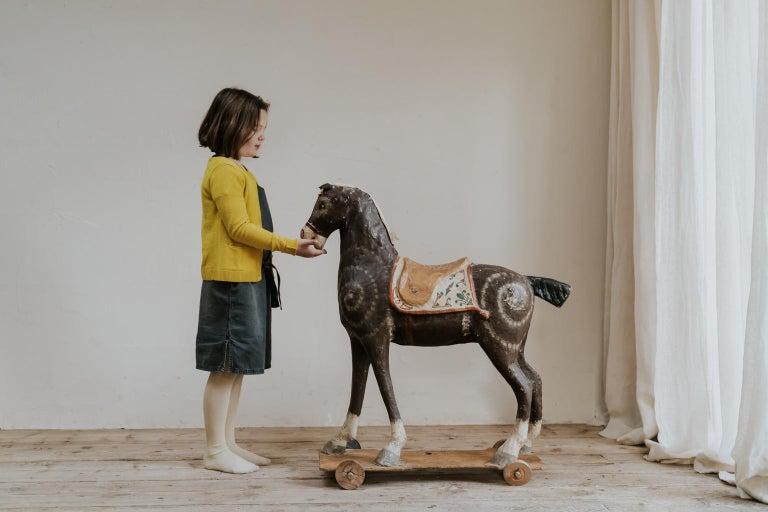 19th Century Papier Mâché Toy Horse For Sale 7