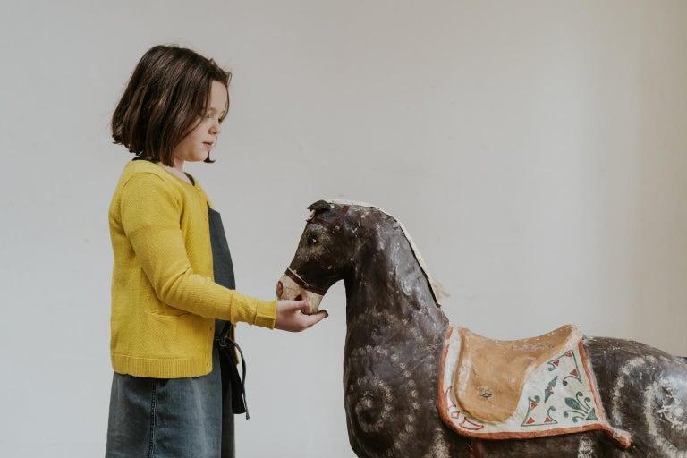 19th Century Papier Mâché Toy Horse For Sale 8
