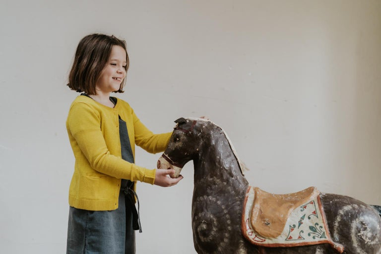 19th Century Papier Mâché Toy Horse In Good Condition For Sale In Brecht, BE