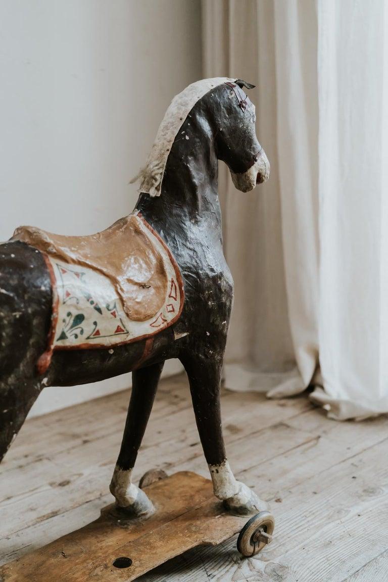 19th Century Papier Mâché Toy Horse For Sale 1