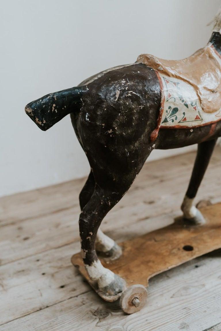 19th Century Papier Mâché Toy Horse For Sale 2