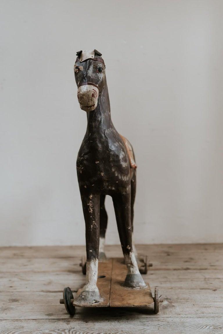 19th Century Papier Mâché Toy Horse For Sale 3
