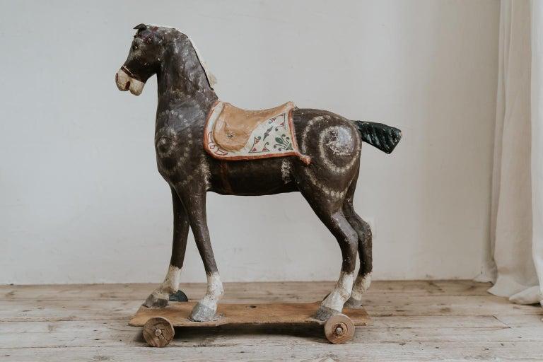 19th Century Papier Mâché Toy Horse For Sale 4
