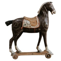 19th Century Papier Mâché Toy Horse