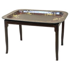 19th Century Papier Mache Tray on Stand