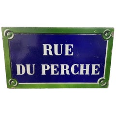 19th Century Paris Stone Street name sign, Rue Du Perche