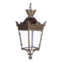 19th Century Paris Top Crown Lantern
