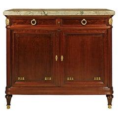 19th Century Parisian Louis XVI Style Mahogany Buffet