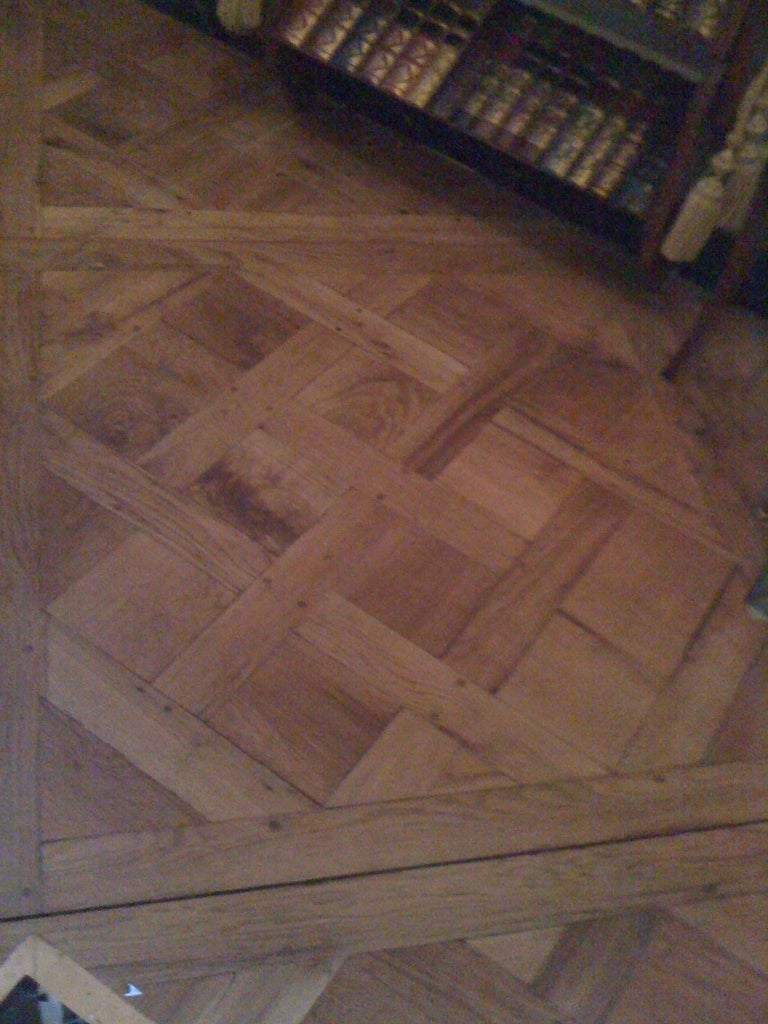 French 19th Century Parquet de Versailles , 2 inch thick  For Sale