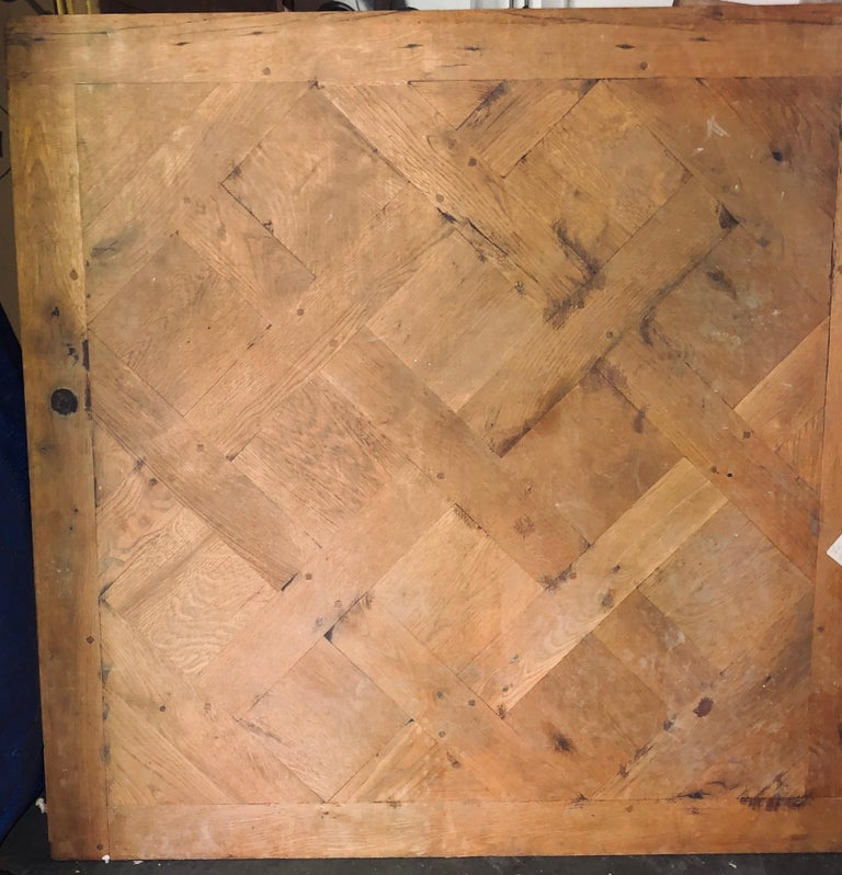 19th Century Parquet de Versailles , 2 inch thick  In Good Condition For Sale In Fort Lauderdale, FL