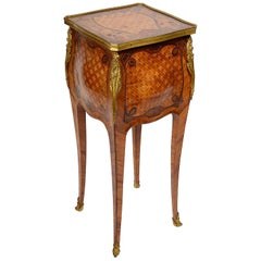 19th Century Parquetry Inlaid Side Table, after Linke