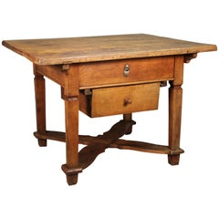 19th Century Pastry Table with Movable Top