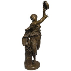 19th Century Patinated Bronze Sculpture of a Dancer Zingara by F. Barbedienne