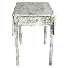 19th Century Pembroke Table, Side Table, Serving Table, Antique Mahogany Painted