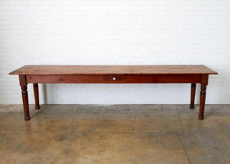 Rustic 19th Century Pennsylvania Dutch Farmhouse Harvest Table For Sale