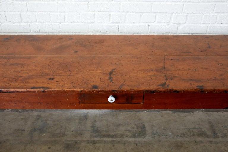 19th Century Pennsylvania Dutch Farmhouse Harvest Table For Sale 1