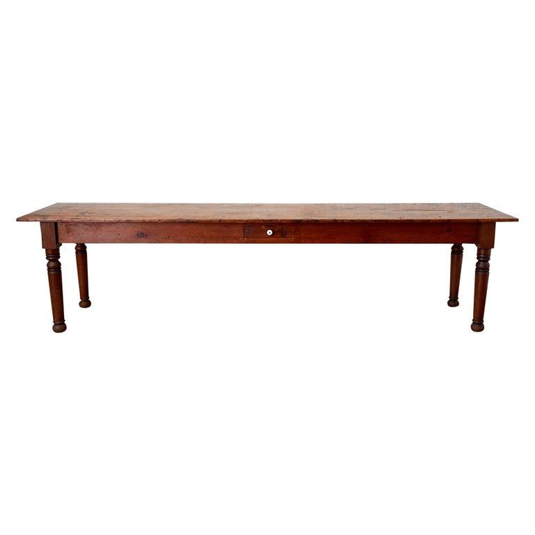 19th Century Pennsylvania Dutch Farmhouse Harvest Table For Sale