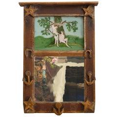 19th Century Pennsylvania Folk Art Style Mirror