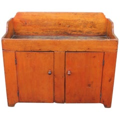 19th Century Pennsylvania Two-Door Dry Sink