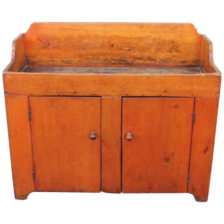 19th Century Pennsylvania Two-Door Dry Sink For Sale