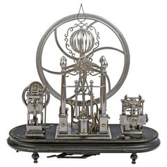 19th Century Perpetual Motion Clock Signed Touchard